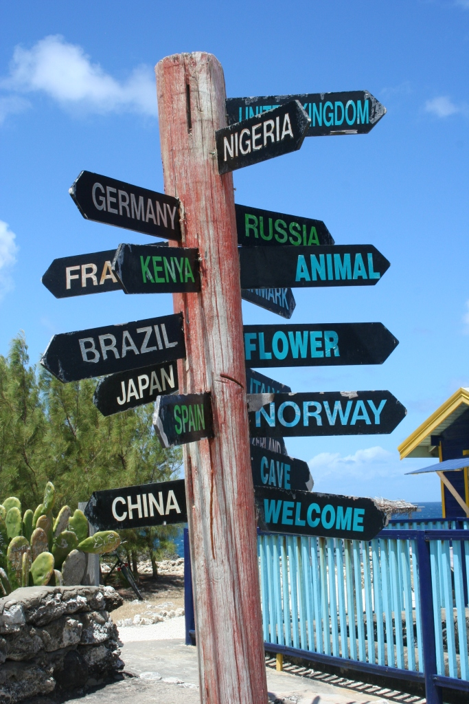 Signpost in Barbados