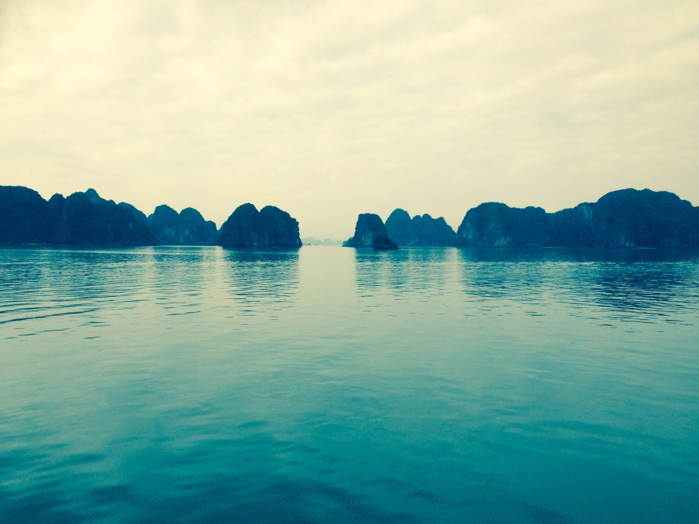 Calm waters of Halong Bay