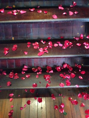 What girl doesn't like to be showered with rose petals