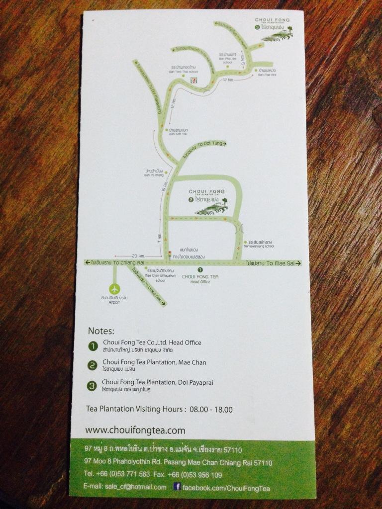 Directions to Choui Fong Chiang Rai