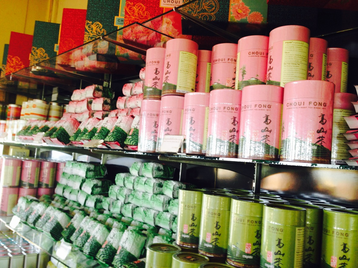 Tea for sale at Choui Fong Chiang Rai