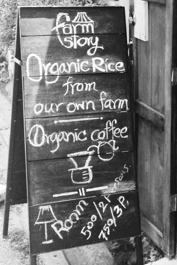 Farm Story House chalkboard