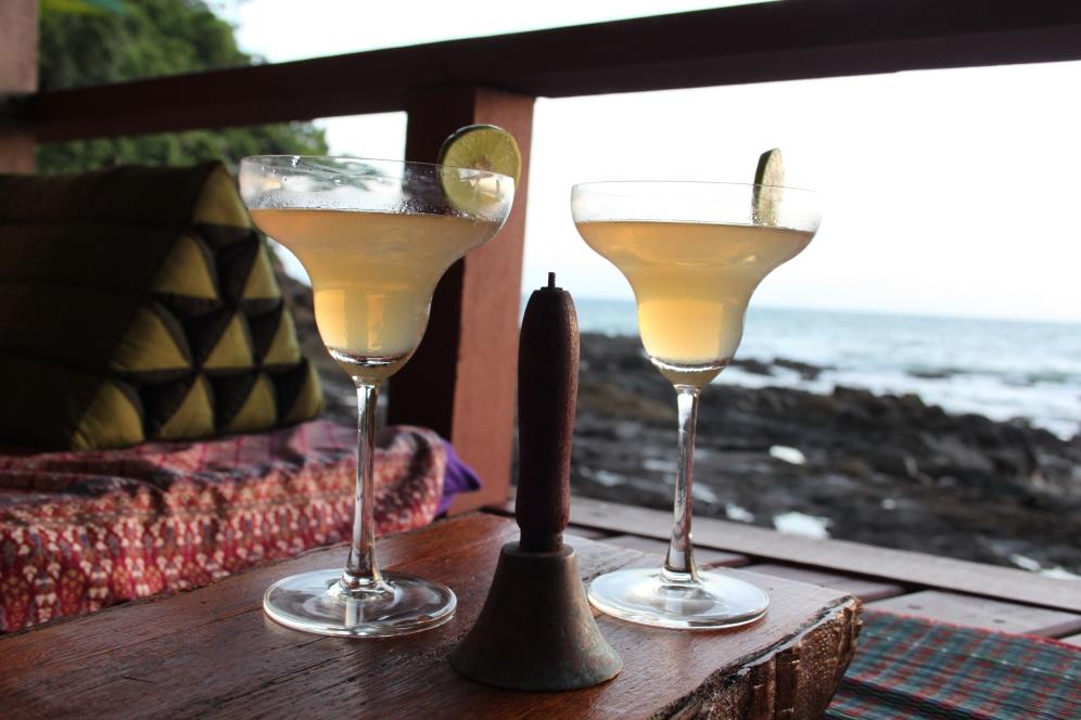 Enjoying private cocktails at Crown Lanta Reggae Bar